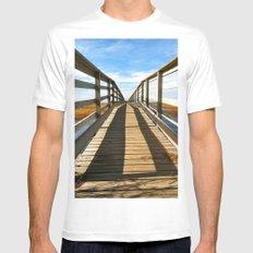 Cross the Bridge Mens Fitted Tee MEDIUM White