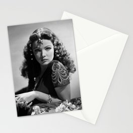 Gene Tierney, Hollywood Starlet black and white photograph / black and white photography Stationery Cards