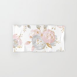 Roses Gold Glitter Pink by Nature Magick Hand & Bath Towel