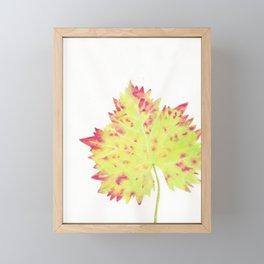 Watercolor Vine Leaf Framed Mini Art Print