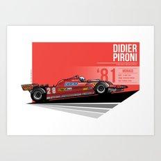 Didier Pironi -  1981 Monaco Art Print