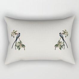 Fork-tailed Flycatcher Bird Illustration Rectangular Pillow