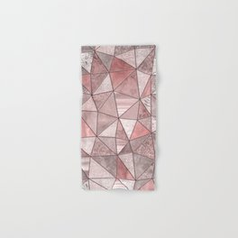 Soft Pink Coral Glamour Gemstone Triangles Hand & Bath Towel