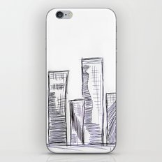 The City - Original Pen Ink Sketch iPhone & iPod Skin