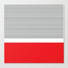 Red Stripe Canvas Print