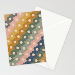 Hexagon Flowers Stationery Cards