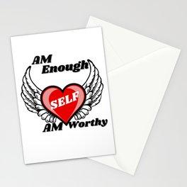 self love, I  am enough .I am worthy Stationery Cards