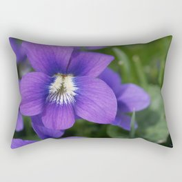 Violets Are Not Blue Rectangular Pillow