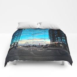 Seattle Summer Sunset Comforters
