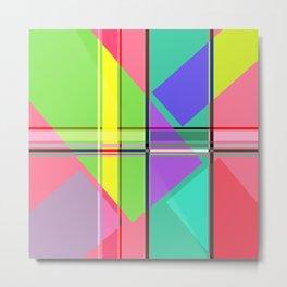 Colori Geometrica 01 Metal Print