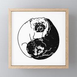 The Tao of English Bulldog Framed Mini Art Print