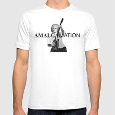 Amalgamation #3 Mens Fitted Tee MEDIUM White