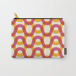 Color Waves - Bright, Fun, Vibrant Wavy Line Pattern Carry-All Pouch