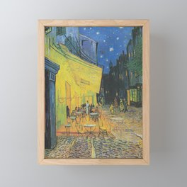 Cafe Terrace at Night by Vincent van Gogh Framed Mini Art Print