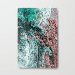 Ocean Print, Aerial Photography, Beach Print, Drone Photography, Ocean Waves, Teal Landscape, Aerial Metal Print
