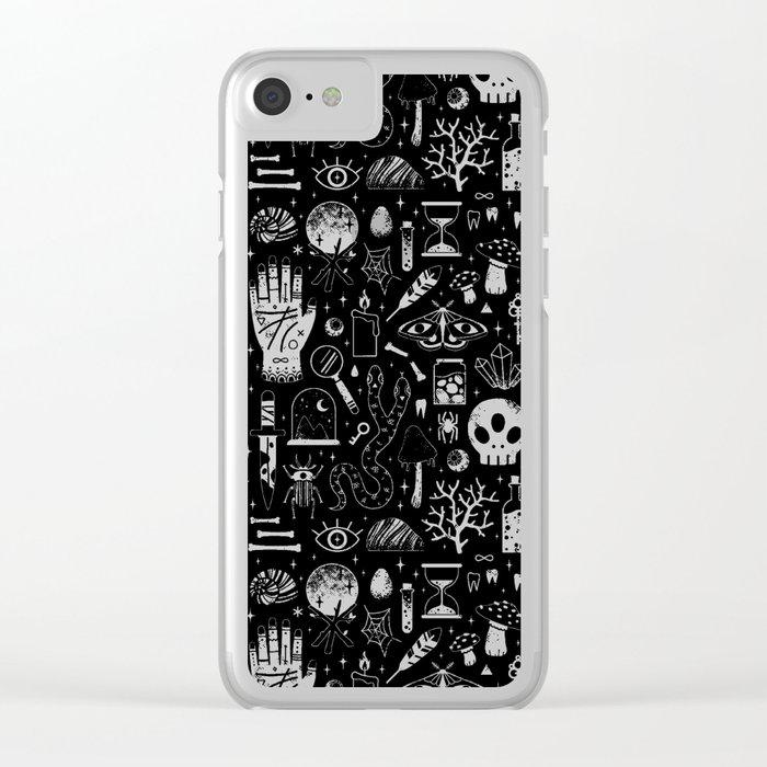 Curiosities: Bone Black Clear iPhone Case
