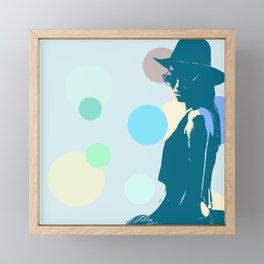 Clipart girl Framed Mini Art Print