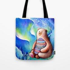 Spirit Bear Tribal Print Tote Bag