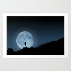 Man in the Moon Art Print