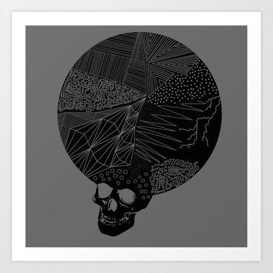 BLK SKL Art Print