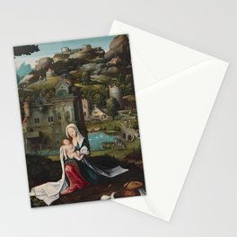 Mother's Day - The Rest on the Flight into Egypt by Netherlandish (Antwerp Mannerist) Painter. Stationery Cards