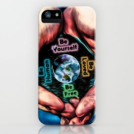 Advent Guard Earth Heart iPhone Case