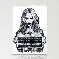 kate moss Stationery Cards featuring Kate Moss by Merlin Dobaryan