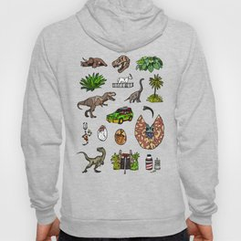 Jurassic pattern lighter Hoody
