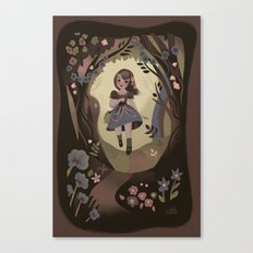 Following Flowers Canvas Print