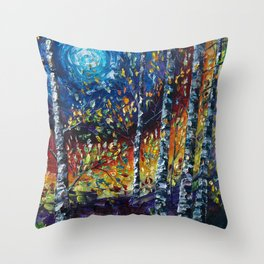 Moonlight Sonata with a Palette Knife Throw Pillow