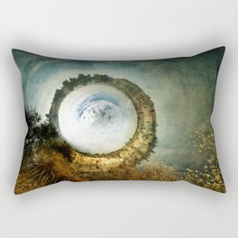 """The landscape of an unknown and fantastic world called the """"White Hole"""" Rectangular Pillow"""