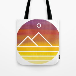 Minimalistic Watercolor Sunset Tote Bag