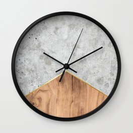 Concrete Arrow Wood #345 Wall Clock