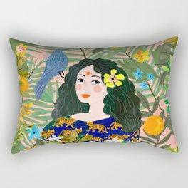 Boho Lady Rectangular Pillow