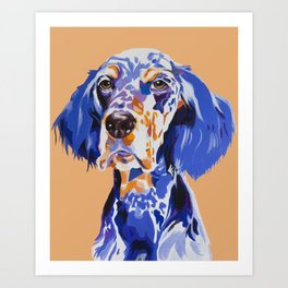 Noble English Setter Art Print