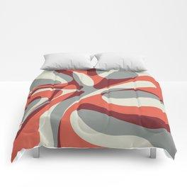 Orange Wave Comforters
