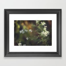 autumn white Framed Art Print