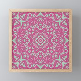 Mandala Geometric Flower G414 Framed Mini Art Print