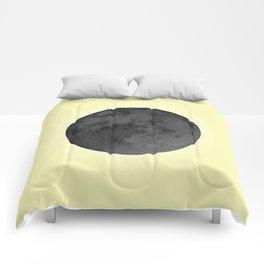 BLACK MOON + CANARY YELLOW SKY Comforters