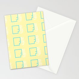 By Faith (teal & yellow) Stationery Cards