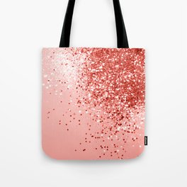 Sparkling Living Coral Lady Glitter #1 #shiny #decor #art #society6 Tote Bag