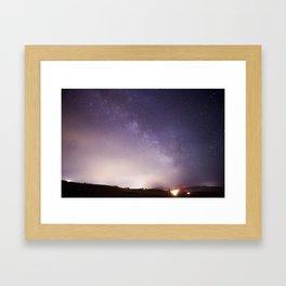 Oregon Stars Framed Art Print