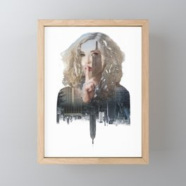 Silence In The City - Two Framed Mini Art Print