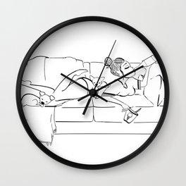 Weekend Mode. Wall Clock