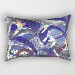 Swirling Swift Sky Rectangular Pillow