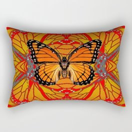 ORANGE MONARCH BUTTERFLY & RED WINGS ABSTRACT FROM SOCIETY6 BY SHARLESART. Rectangular Pillow