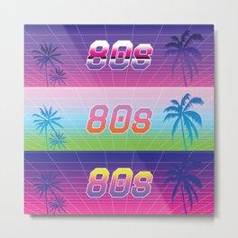 Vaporwave 80s Metal Print