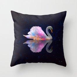 Swan Lake Galaxy Throw Pillow