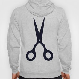 Simple Black Scissors Hoody