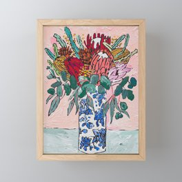 Australian Native Bouquet of Flowers after Matisse Framed Mini Art Print
